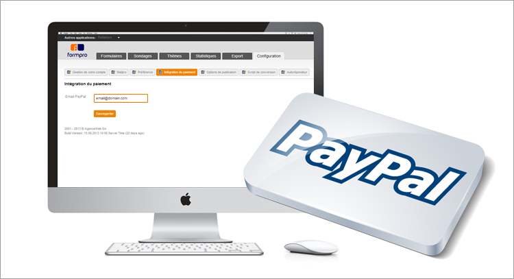 Collect payments through Paypal with Formpro
